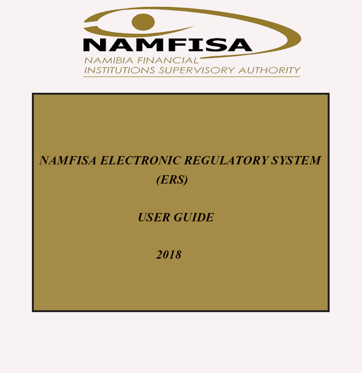 NAMFISA ERS user guide